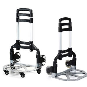 bottom 4 caster +rear 2 caster loading 80kg luggage cart