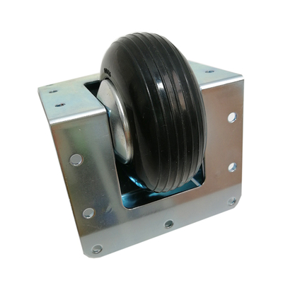 Bear 150kg Heavy Duty Steel Recessed Castor with 80mm Diameter Black Wheel.