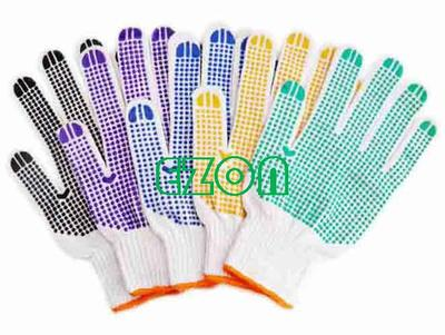 pvc dotted cotton knitted safty gloves