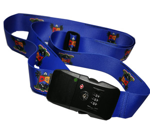 A1 Bluetooth +tsa lock + logo print luggage strap